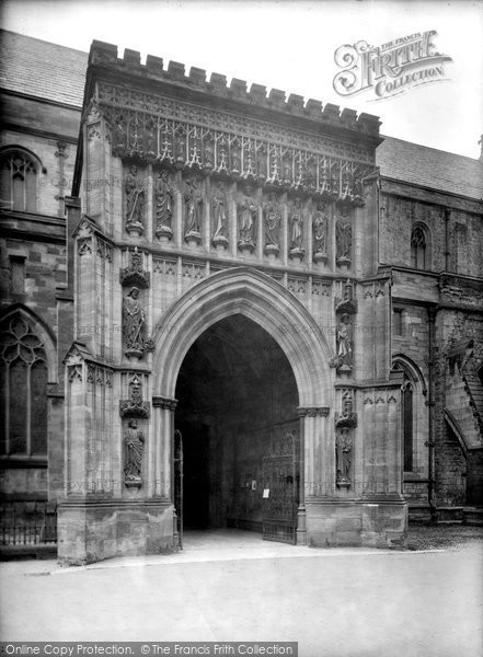 Photo of Worcester, Cathedral, North Door 1925