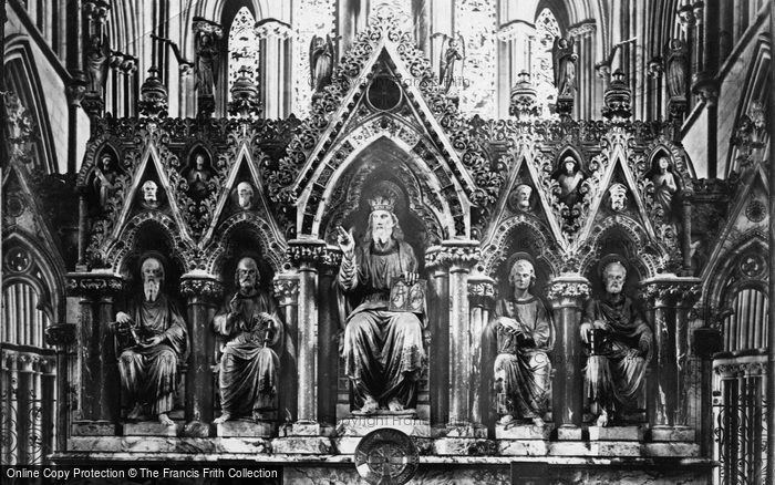 Photo of Worcester, Cathedral Reredos c.1869