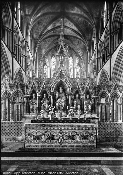 Photo of Worcester, Cathedral, The Reredos 1892