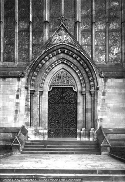 Photo of Worcester, Cathedral, West Door 1891