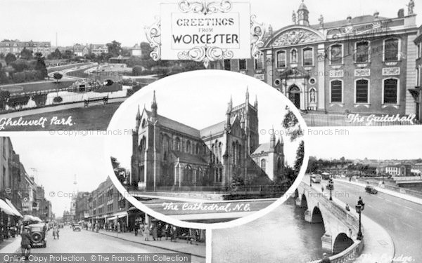 Photo of Worcester, Composite c.1955