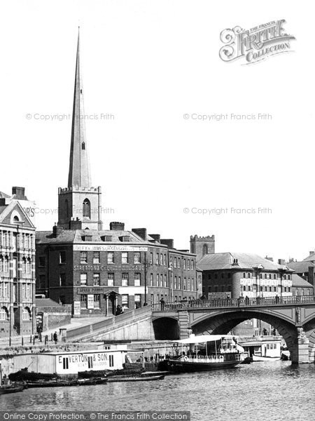 Photo of Worcester, From The River Severn 1904