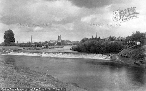 Photo of Worcester, From The Weir c.1890
