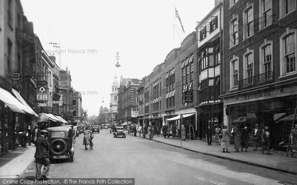 Photo of Worcester, High Street 1936