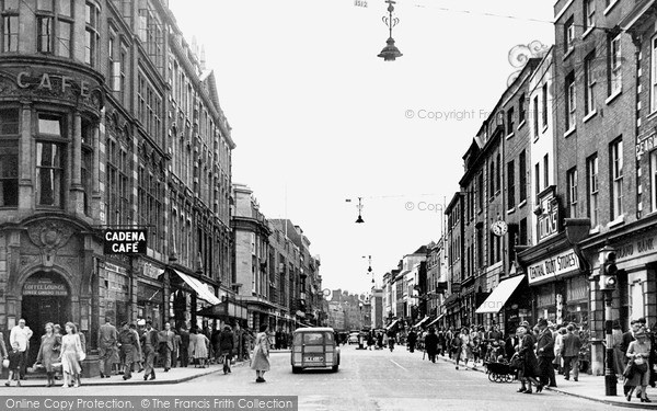 Photo of Worcester, High Street c.1950