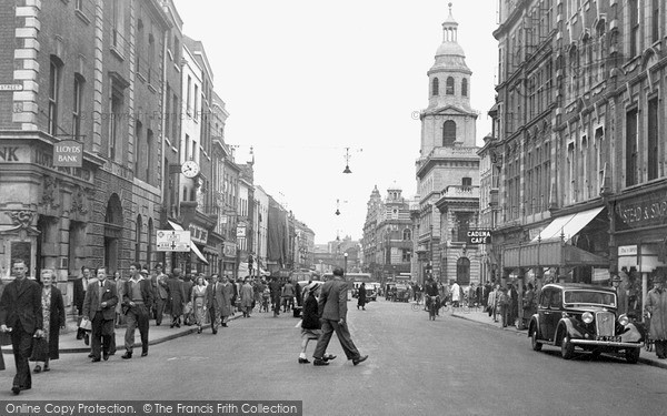 Photo of Worcester, High Street c1950