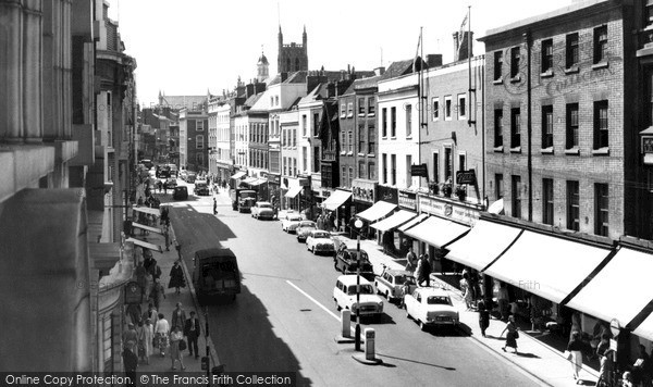 Photo of Worcester, High Street c.1960