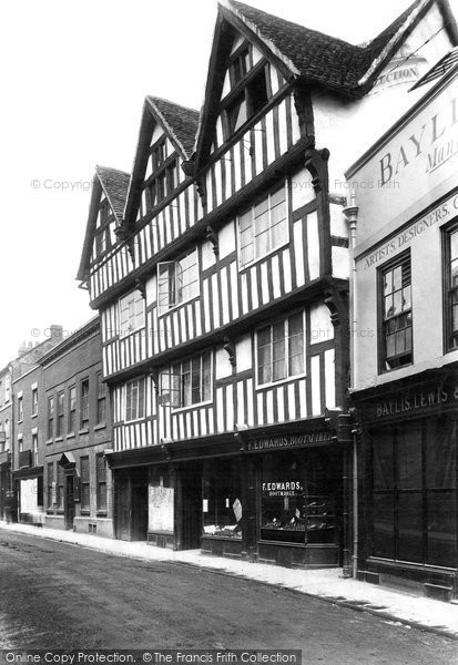 Photo of Worcester, Nash House, New Street 1906