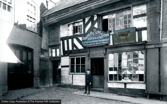 Photo of Worcester, Old House In The Corn Market c.1890