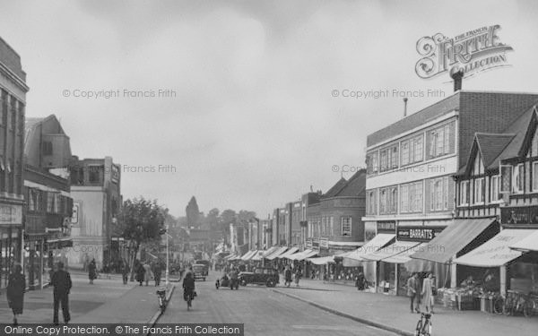 Photo of Worcester Park, Central Road c.1950