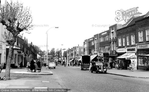 Photo of Worcester Park, Central Road c1955