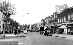 Worcester Park, Central Road c.1955