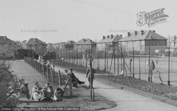 Photo of Worcester Park, Cuddington Tennis Court c.1950