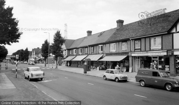 Photo of Worcester Park, Shopping Parade c.1965