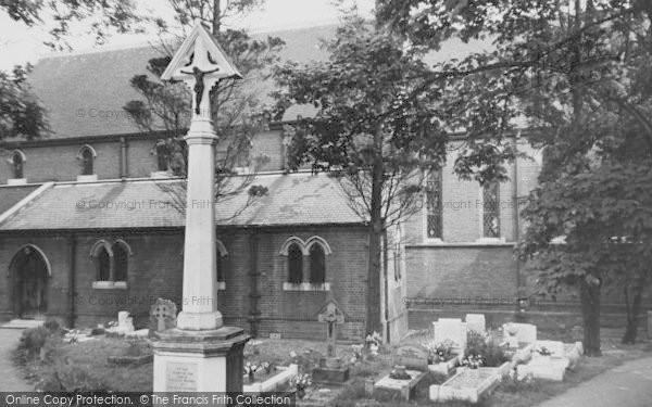 Photo of Worcester Park, St Philip's Church c.1955