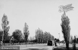 Worcester Park, Station Approach c.1950