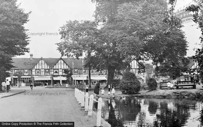 Photo of Worcester Park, The Pond c.1955
