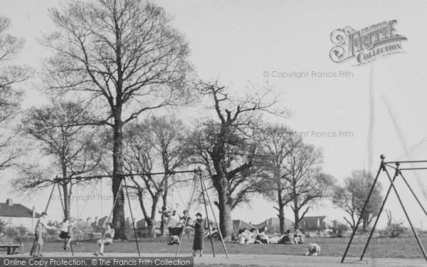 Photo of Worcester Park, The Swings, Cuddington Recreation Ground c.1950