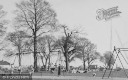 Worcester Park, The Swings, Cuddington Recreation Ground c.1950