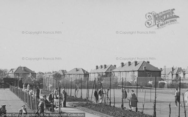 Photo of Worcester Park, The Tennis Courts, Cuddington Recreation Ground c.1950
