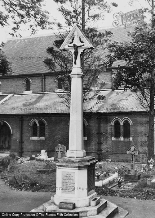 Photo of Worcester Park, The War Memorial c.1955