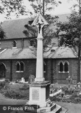 Worcester Park, the War Memorial c1955