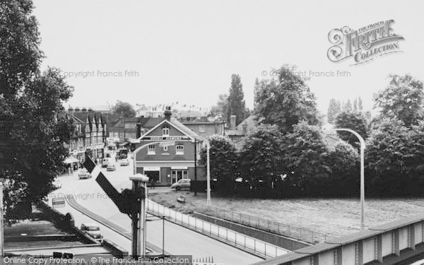 Photo of Worcester Park, View From Railway Bridge c.1965
