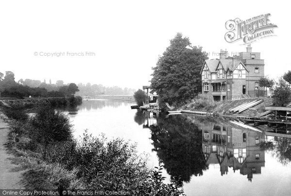 Photo of Worcester, River Severn And Grand Stand 1906