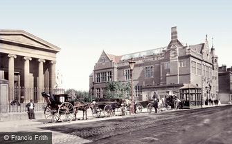 Worcester, Shire Hall and Victoria Institute 1899