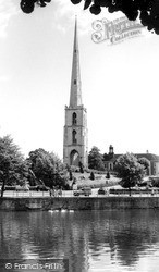 Worcester, St Andrew's Spire c.1960