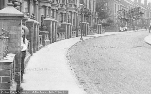 Photo of Worcester, St Dunstan's Crescent, A Girl Hiding 1907