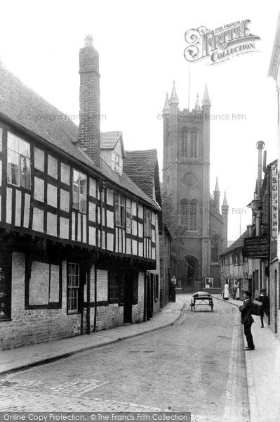 Photo of Worcester, St Peter's Street And Church 1906