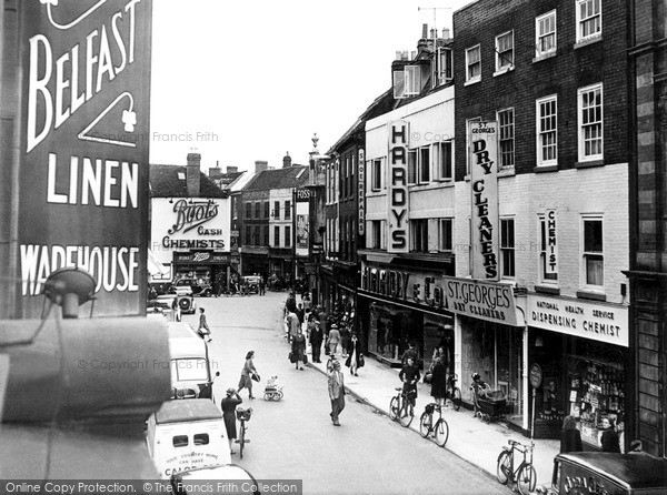 Photo of Worcester, St Swithin's Street c.1950