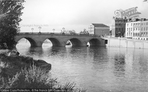 Photo of Worcester, The Bridge And River c.1960