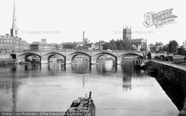 Photo of Worcester, the Cathedral and Bridge 1891