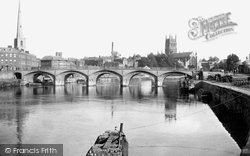 Worcester, The Cathedral And Bridge 1891