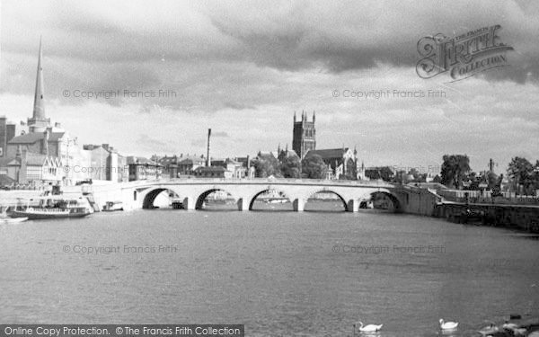 Photo of Worcester, The Cathedral And Bridge 1933