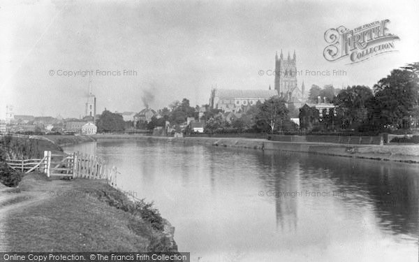 Photo of Worcester, The Cathedral And River Severn c.1890