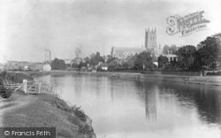 Worcester, The Cathedral And River Severn c.1890