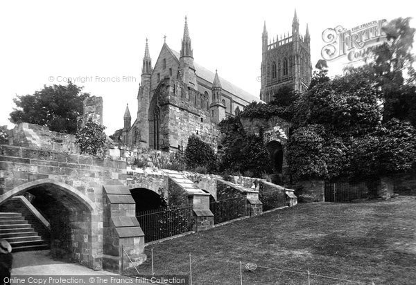 Photo of Worcester, The Cathedral And The Monastic Ruins 1892