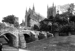 Worcester, The Cathedral And The Monastic Ruins 1892