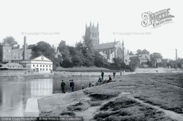 Photo of Worcester, The Cathedral And The River Severn 1891