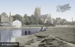 Worcester, The Cathedral And The River Severn 1891