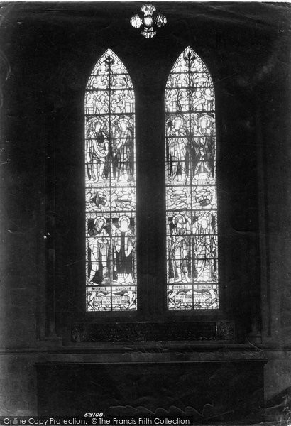 Photo of Worcester, The Cathedral, Burne Jones Window 1907
