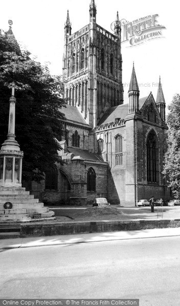 Photo of Worcester, the Cathedral c1960, ref. W141075