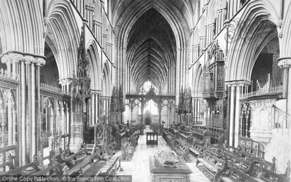 Photo of Worcester, The Cathedral Choir c.1890