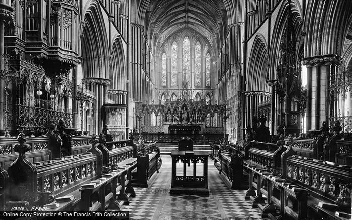 Photo of Worcester, The Cathedral Choir East 1891