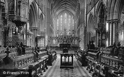 Worcester, The Cathedral Choir East 1891