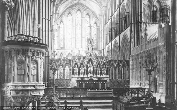 Photo of Worcester, The Cathedral, Choir East c.1869