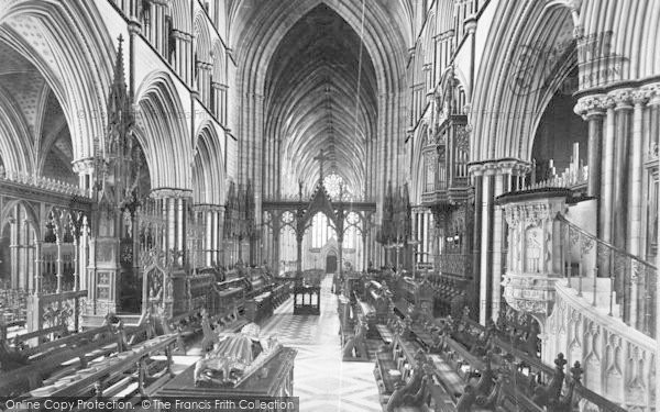 Photo of Worcester, The Cathedral Choir, Looking West c.1890